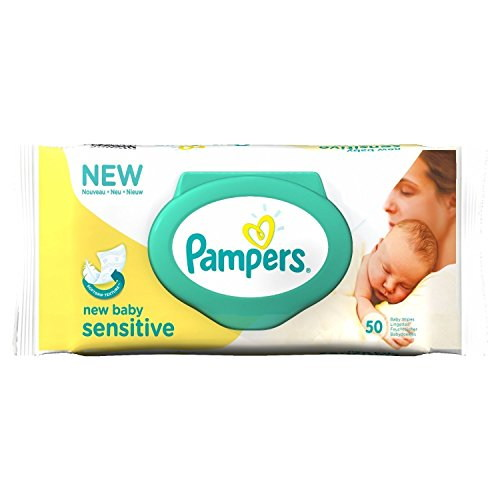 Pampers New Baby Sensitive Baby Wipes, 50 Wipes
