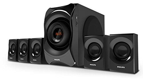 Philips SPA8000B/94 5.1 Channel Multimedia Speakers System, Black