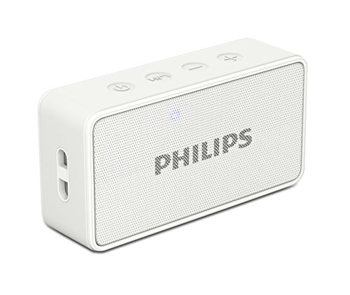 Philips BT64W Portable Bluetooth Speakers, White