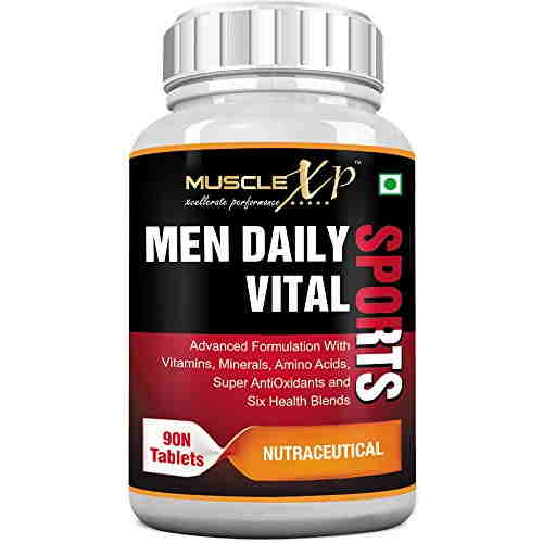 MuscleXP Men Daily Vital Sports Supplements (90 Tablets, Pack of 3)