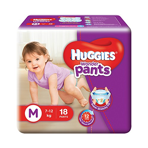 Huggies Wonder Pants Style M Diapers (18 Pieces)