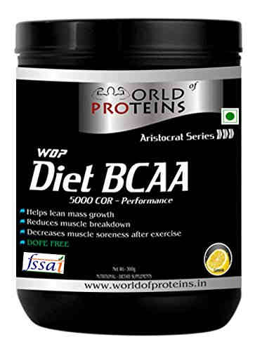 WOP Diet BCAA Protein Supplement (300gm, Lemon)