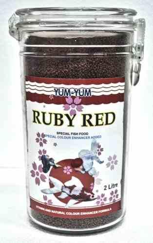 Yum Yum Ruby Red Fish Food (2L)