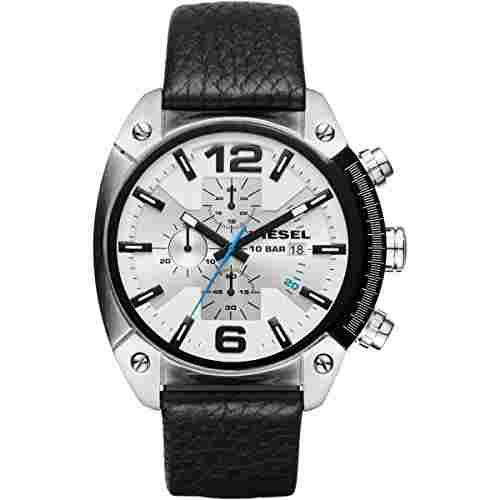 Diesel DZ4413 Overflow Silver Toned Chronograph Men's Watch