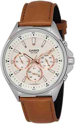 Casio Enticer MTP-E303L-9AVDF (A1075) Analog Off White Dial Men's Watch
