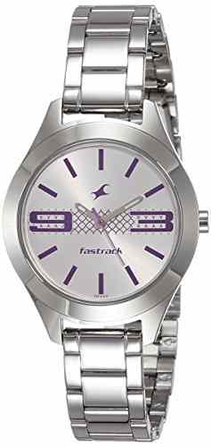 Fastrack 6153SM01 Analog Silver Dial Women's Watch (6153SM01)