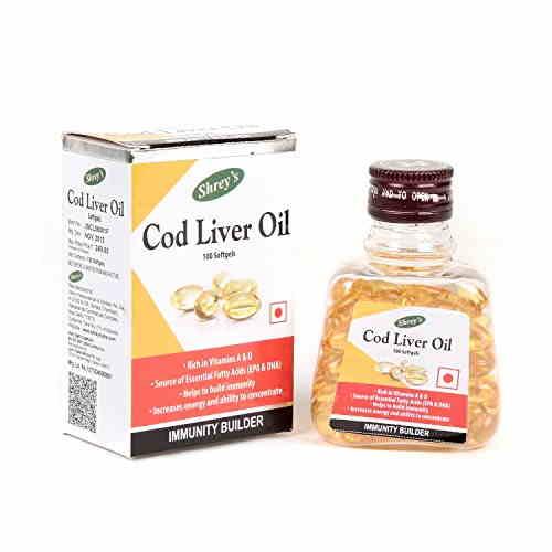 Shrey's Cod Liver Oil Supplements (100 Softgels)