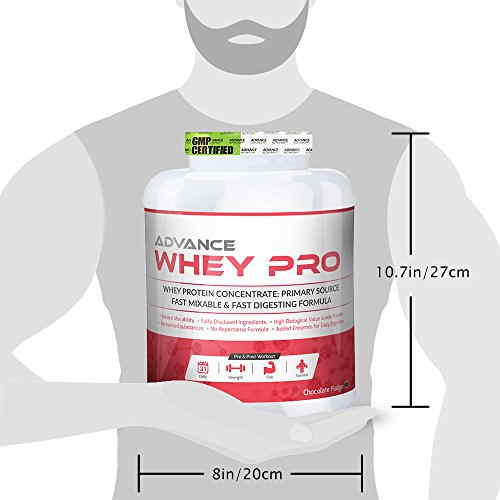 Advance Nutratech Whey Pro Protein Powder (2Kg, Vanilla)