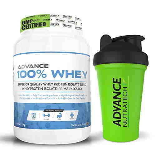 Advance Nutratech 100% Whey Protein (1Kg, Chocolate)