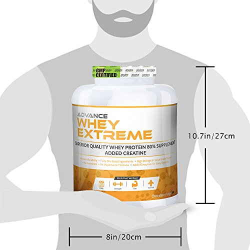 Advance Nutratech Whey Extreme Protein Powder (2Kg / 4.41lbs, Chocolate)