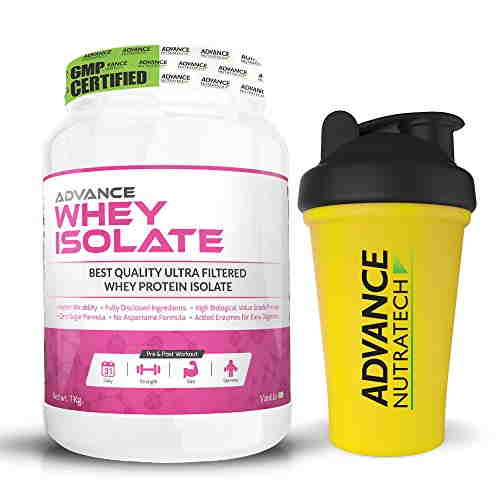 Advance Nutratech Whey Isolate Protein Powder (1Kg / 2.2lbs, Vanilla)