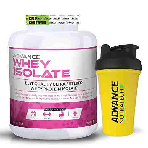 Advance Nutratech Whey Isolate Protein Powder (2Kg, Vanilla)