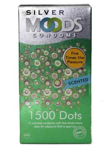 Moods Silver 1500 Dots Scented Condoms (12 Condoms)