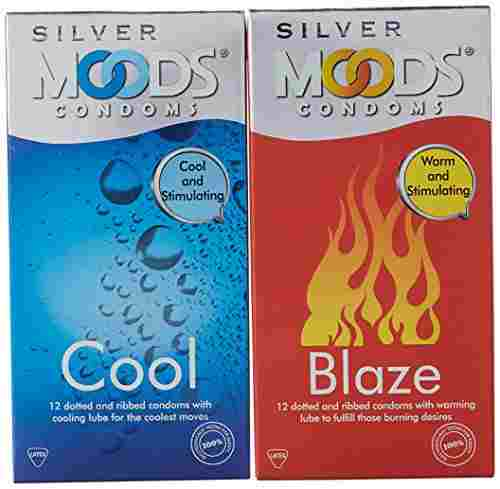 Moods Silver Cool Condoms (12 Condoms)
