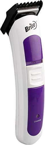 Brite BHT-409 Rechargeable Hair Clipper Trimmer For Unisex White & Voilet