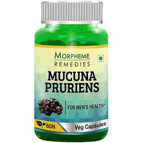 Morpheme Remedies Mucuna Pruriens 500mg Extract Supplements (60 Capsules)