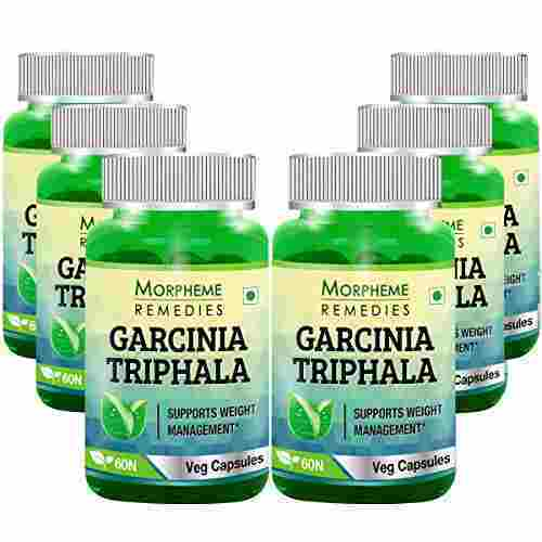 Morpheme Remedies Garcinia Triphala Cleansing & Weight Loss 500mg Extract (60 Capsules) - Pack of 6