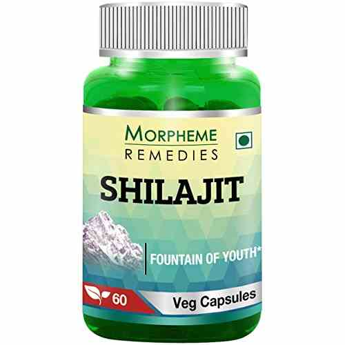 Morpheme Remedies Shilajit 500 mg Extract Supplements (60 Capsules) - Pack Of 6