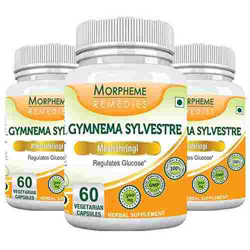 Morpheme Remedies Gymnema Sylvestre 500mg Supplements (60 Capsules) - Pack Of 3