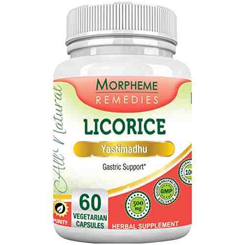 Morpheme Remedies Licorice 500mg Extract Supplements (60 Capsules)