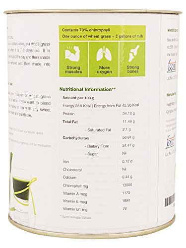 By Nature Organic Wheatgrass Powder Anti-Oxidants Supplement (150gm)