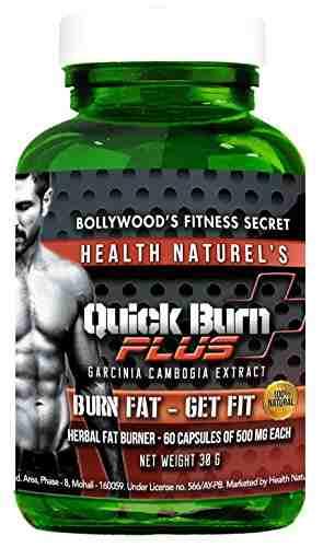 Health Naturels Quick Burn Plus Weight Loss Supplement (30gm, 60 Capsules))