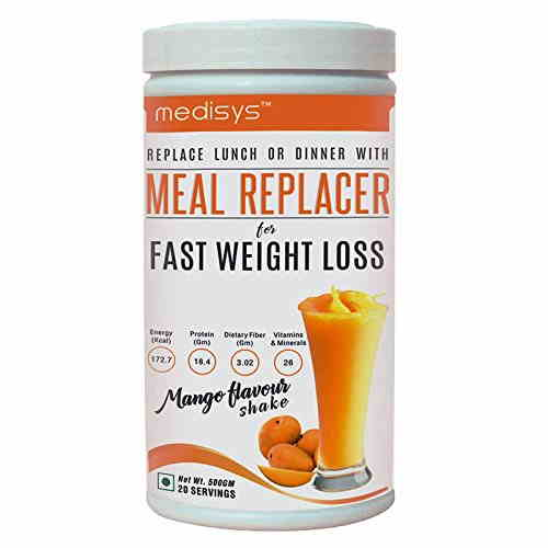 Medisys Meal Replacer Fast Weight Loss (500gm / 1.11lbs, Mango)