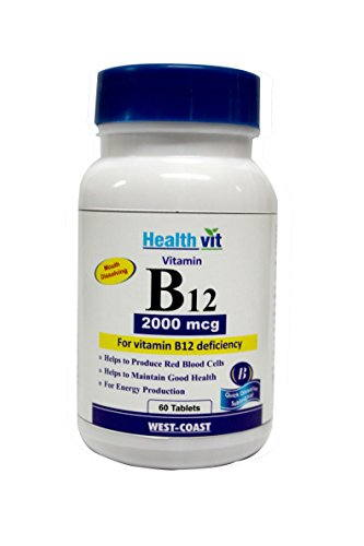 Healthvit Vitamin B12 2000 Mcg Supplements (60 Capsules)