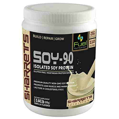 Sharrets Nutritions Soy-90 Isolated Soy Protein (200gm, Vanilla)