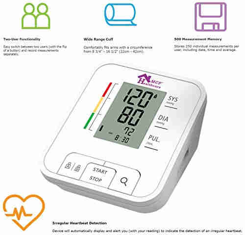 MCP BP109 Upper Arm Digital BP Monitor