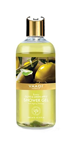 Vaadi Herbals Breezy Olive & Green Apple Shower Gel, 300 ML