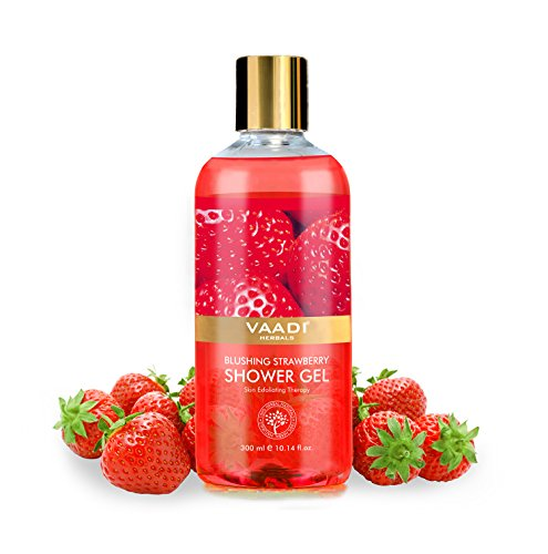 Vaadi Herbals Shower Gel, Blushing Strawberry (300ml)