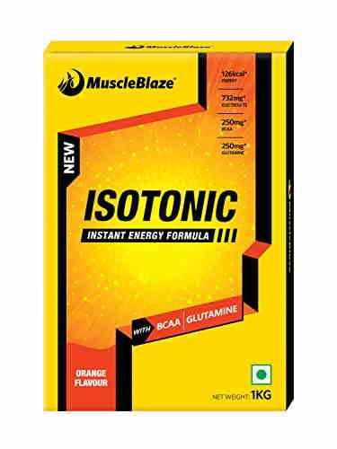 MuscleBlaze Isotonic Instant Energy Formula (1Kg, Orange)