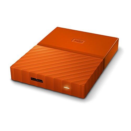 WD My Passport 2 TB Wired External Hard Disk Drive, Orange