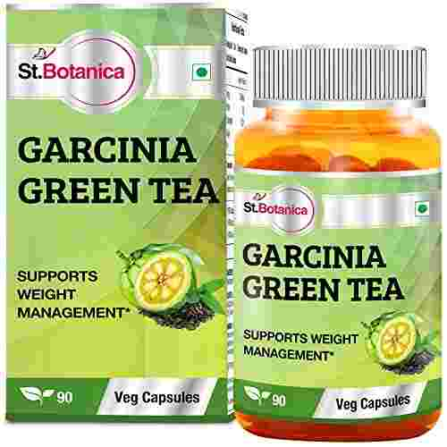 StBotanica Garcinia Green Tea Extract 500 mg (90 Veg Capsules) (Pack of 3)