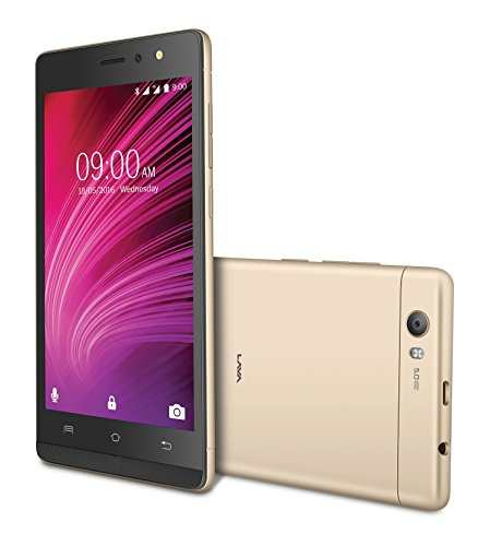 Lava A97 8GB 1GB RAM Gold Mobile
