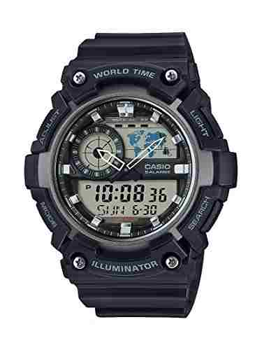 Casio Youth AEQ-200W-1AVDF (AD210) Combination Analog Digital Black Dial Men's Watch