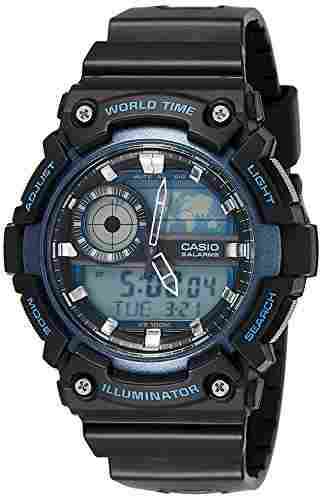 Casio Youth AEQ-200W-2AVDF (AD211) Combination Analog Digital Blue Dial Men's Watch