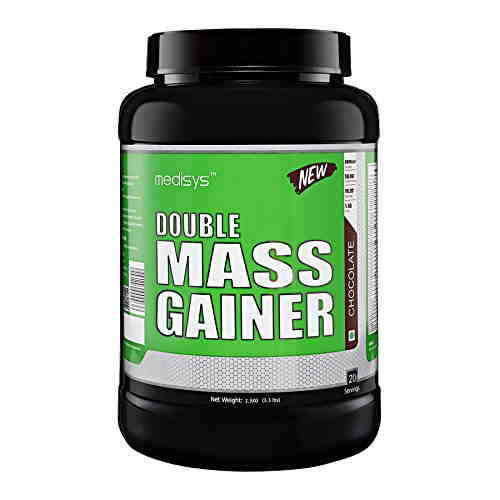 Medisys Double Mass Gainer With Free Multivitamin (1.5Kg, Chocolate)