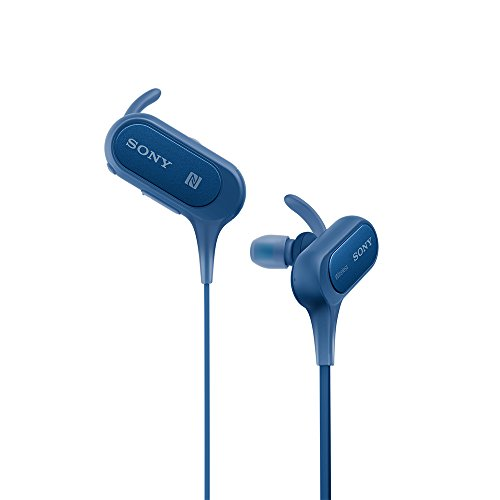 Sony MDR-XB50BSRZE Bluetooth Headphone with Mic, Blue