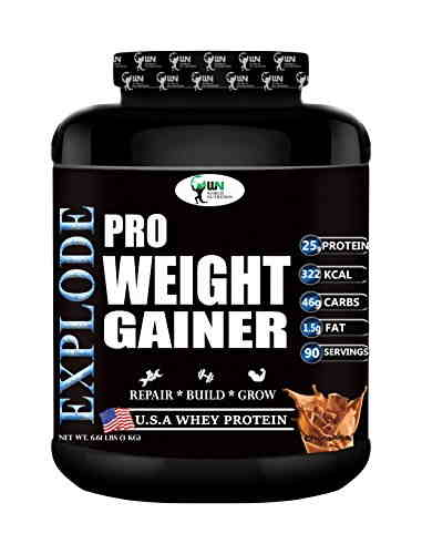 World Nutrition Explode Pro Weight Gainer Powder (3Kg, Chocolate)