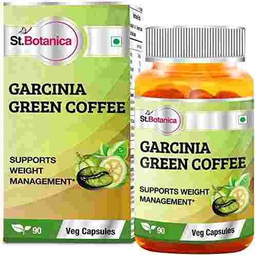 StBotanica Garcinia Green Coffee 500mg Extract Supplements (90 Capsules) - Pack of 6
