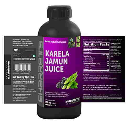 Sharrets Nutritions Karela Jamun Juice (946ml, Pack of 2)