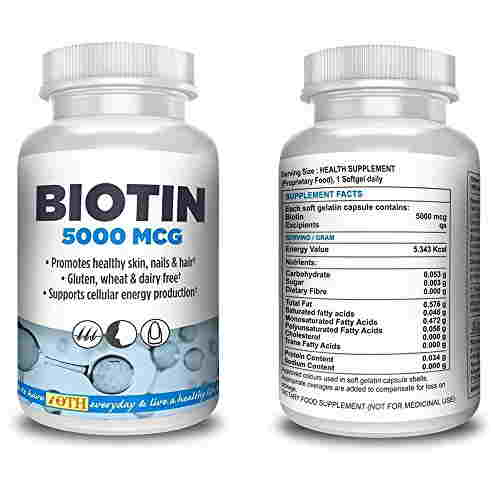 Ioth Biotin 5000 Mcg Maximum Strength Supplements (60 Capsules)