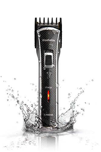 Nova NHT 1020 Waterproof Titanium Coated Trimmer  Black