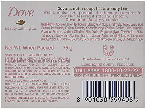 Dove Pink Rosa Beauty Bathing Bar 3x100 g Pack of 3