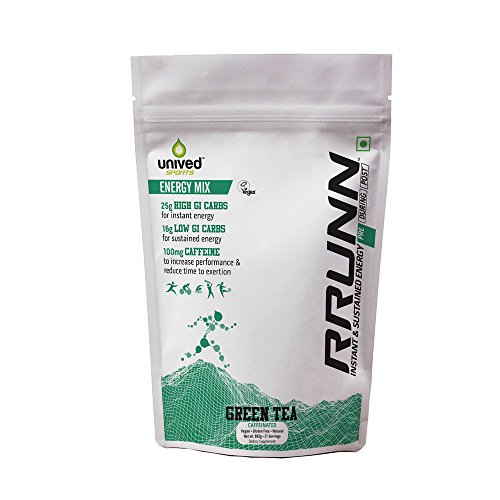 Unived Rrunn Pre Energy Sports Drink Mix (21 Servings, Green Tea Flavour)