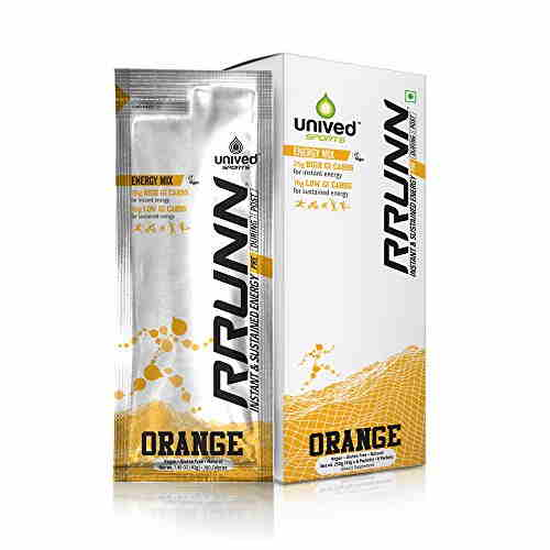 Unived Rrunn Pre Energy Sports Drink Mix (6 Servings, Orange)