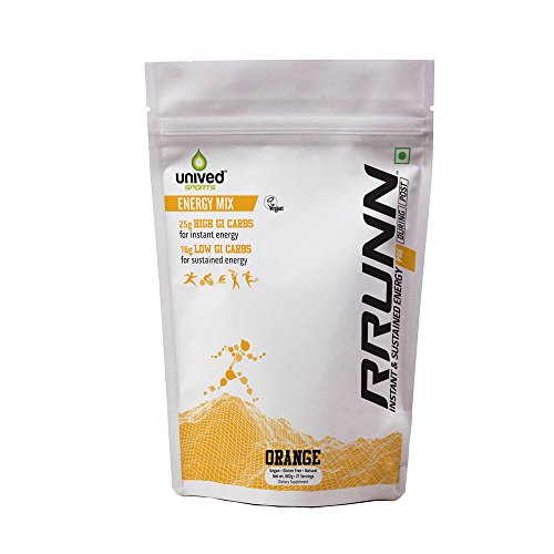 Unived Rrunn Pre Energy Sports Drink Mix (21 Servings, Orange)