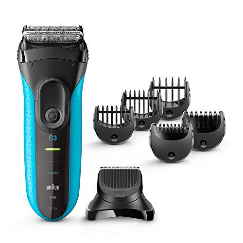 Braun BT-3010 Series 3 3 in 1 Electric Shaver With Precision Trimmer & 5 Comb Attachments